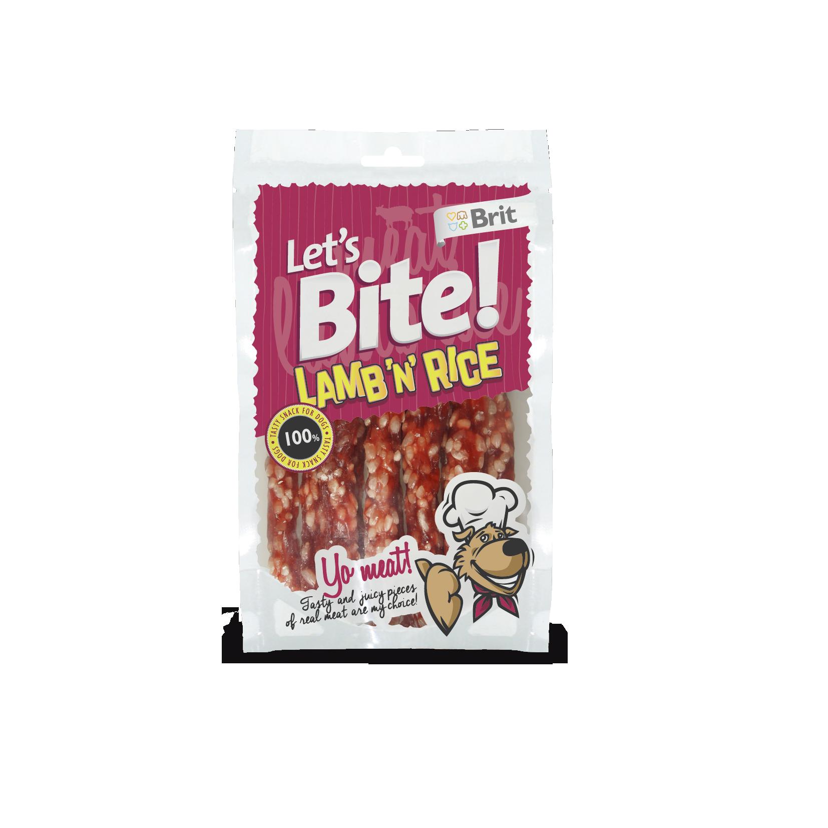 Brit Lets Bite Lamb'n'Rice 105g