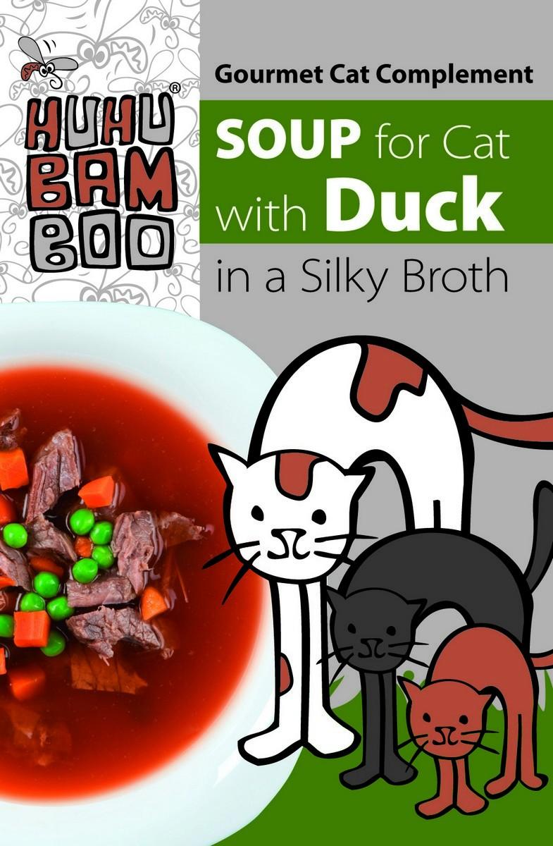 Huhubamboo polévka kachní pro kočky 40g