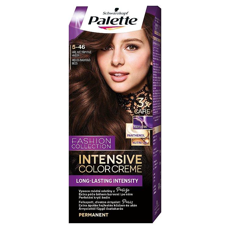 Palette Intensive Color Creme barva na vlasy Hřejivě třpytivě hnědý 5-46