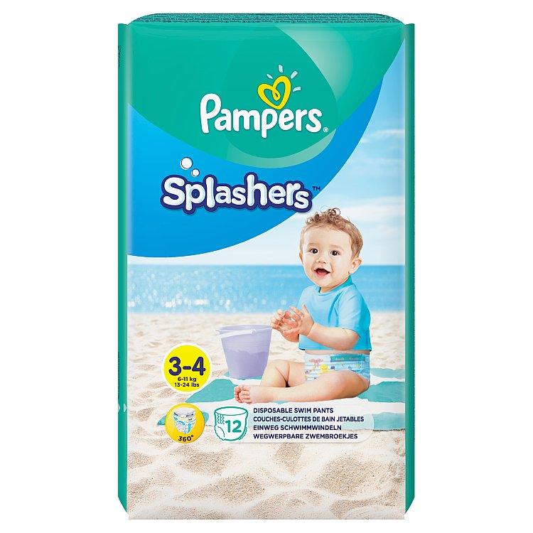 Fotografie Pampers Splashers kalhotkové plenky do vody, vel. 3 - 4 12 ks