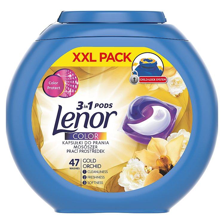 Lenor Gold Orchid gelové kapsle na praní 47 ks