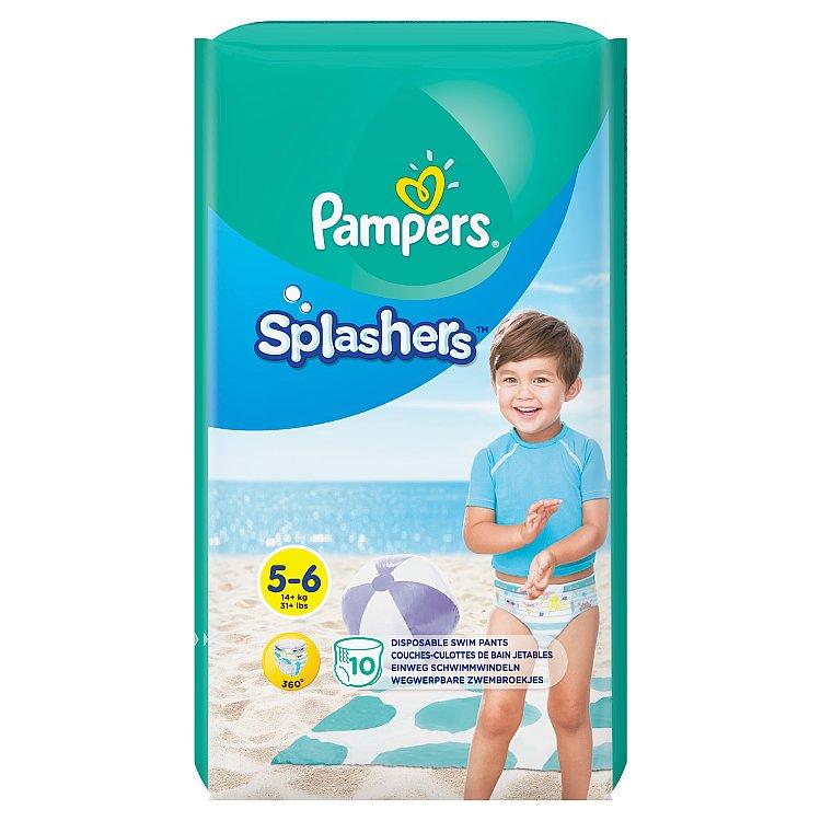 Fotografie Pampers Splashers plenkové kalhotky do vody vel. 5-6 10 ks