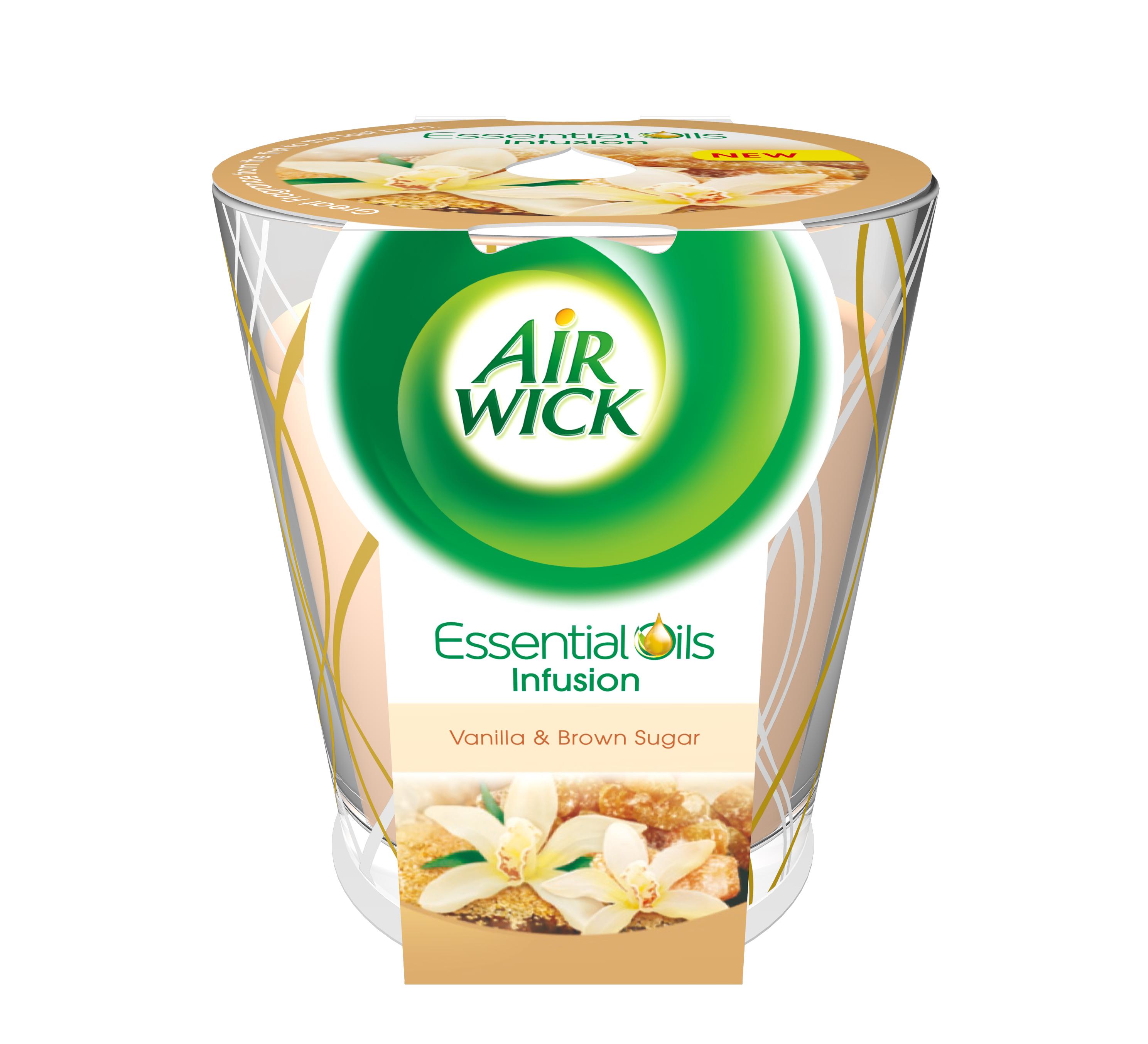 Airwick Essential Oils Infusion DECO svíčka Vanilkové cukroví 105 g