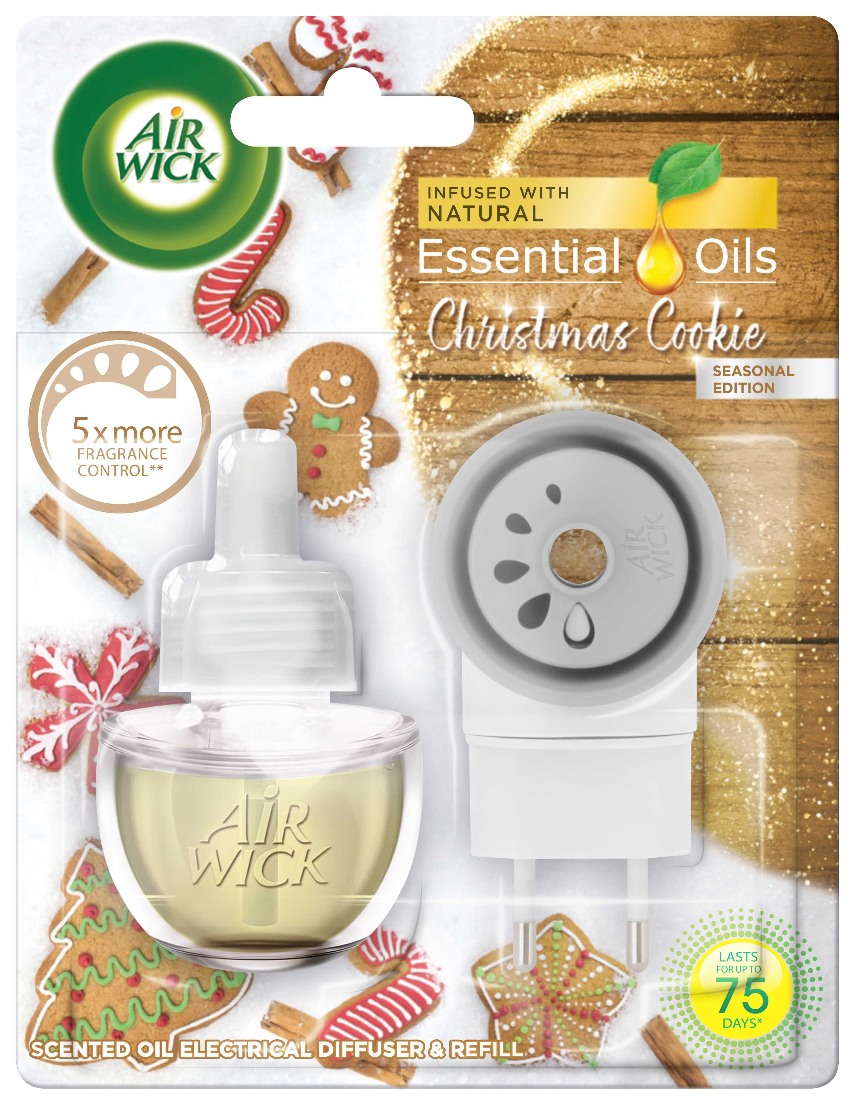 AIRWICK Electric komplet Vánoční cukroví 19 ml