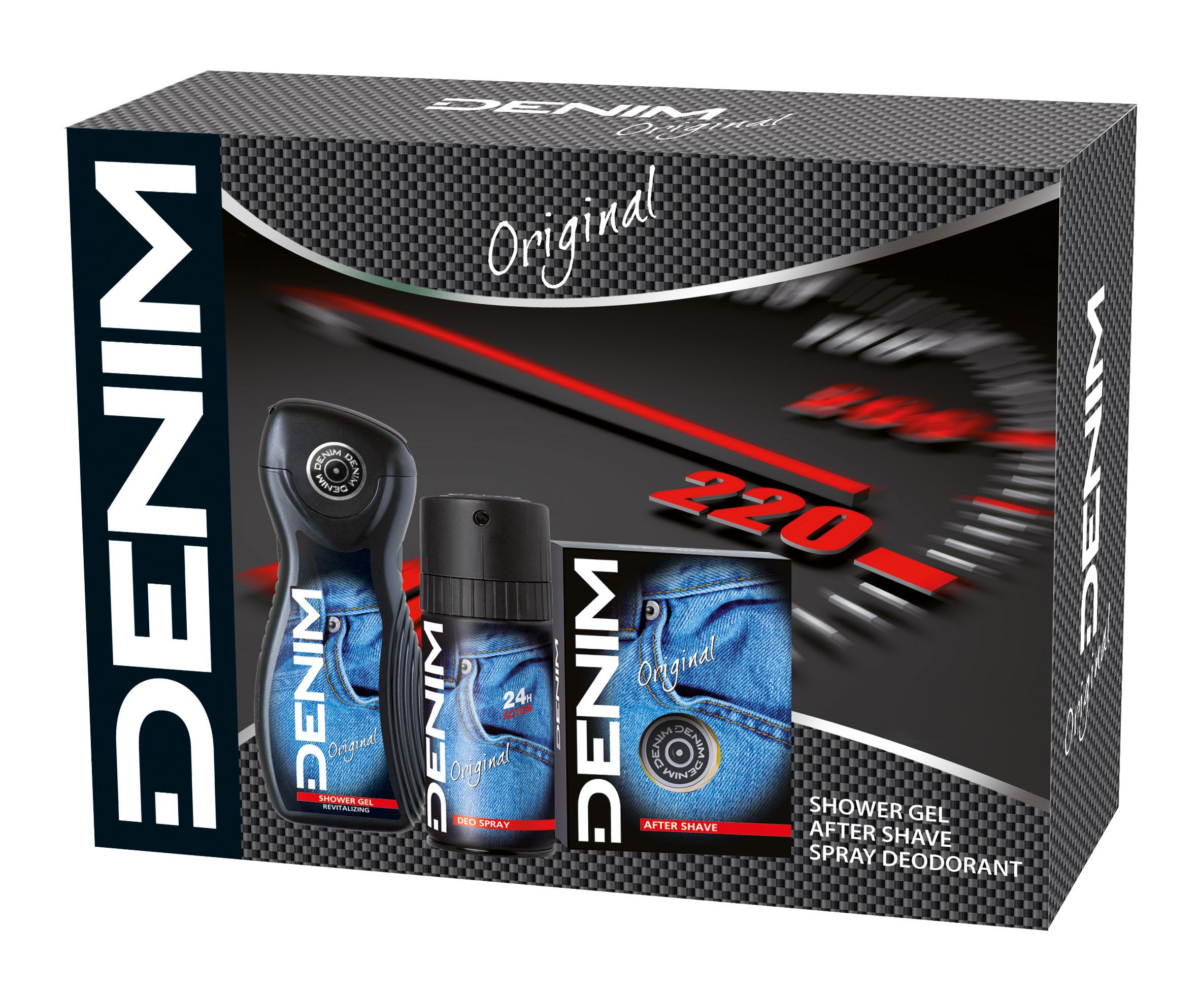 DENIM ORIGINAL voda po holení + deodorant sprej + sprchový gel 100 ml + 150 ml + 250 ml
