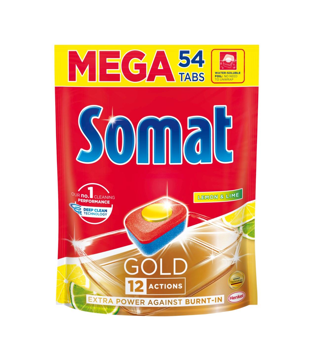 Somat Gold Lemon & Lime tablety do myčky na nádobí 54 ks