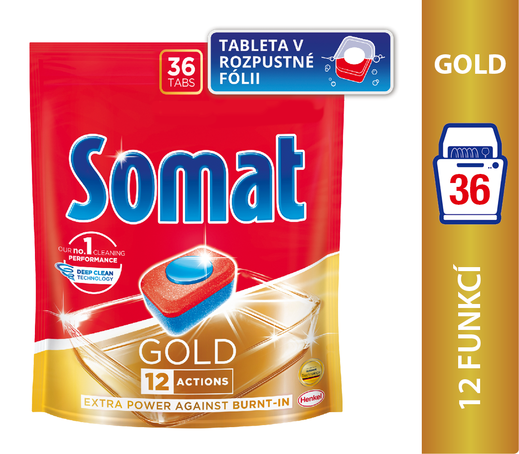 Somat Gold Tablety do myčky na nádobí 36 ks