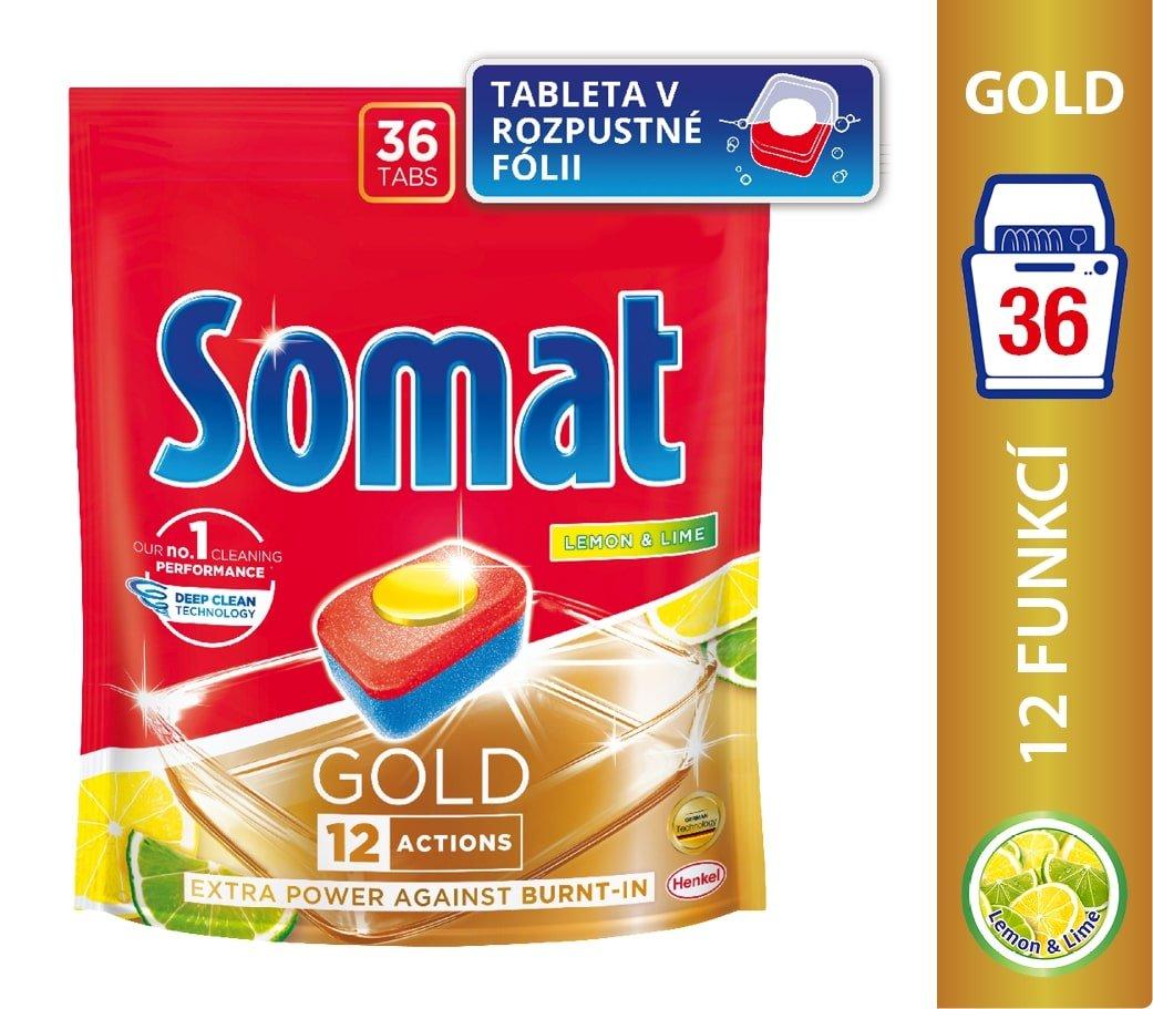 Somat Gold Lemon & Lime tablety do myčky na nádobí 36 ks