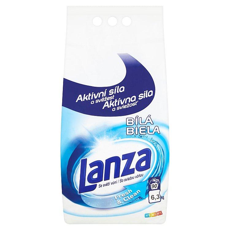 Lanza Fresh & Clean na bílé prádlo, 90 pracích dávek 6,3 kg