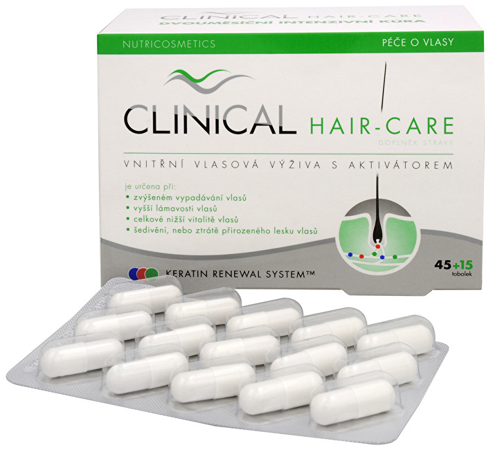 Clinical Hair-care 45 tob. + 15 tob. ZDARMA + pilník ZDARMA