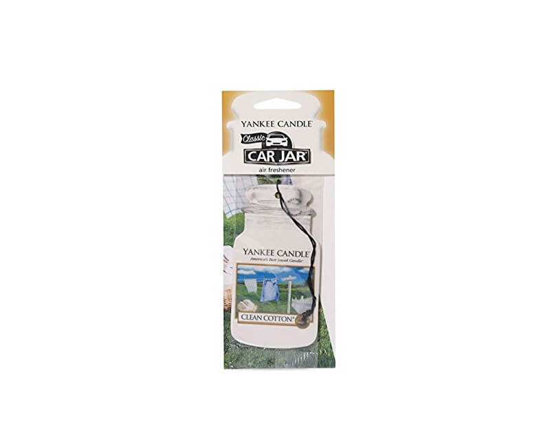 Yankee Candle Car Jar Clean Cotton papírová visačka do auta 1 ks