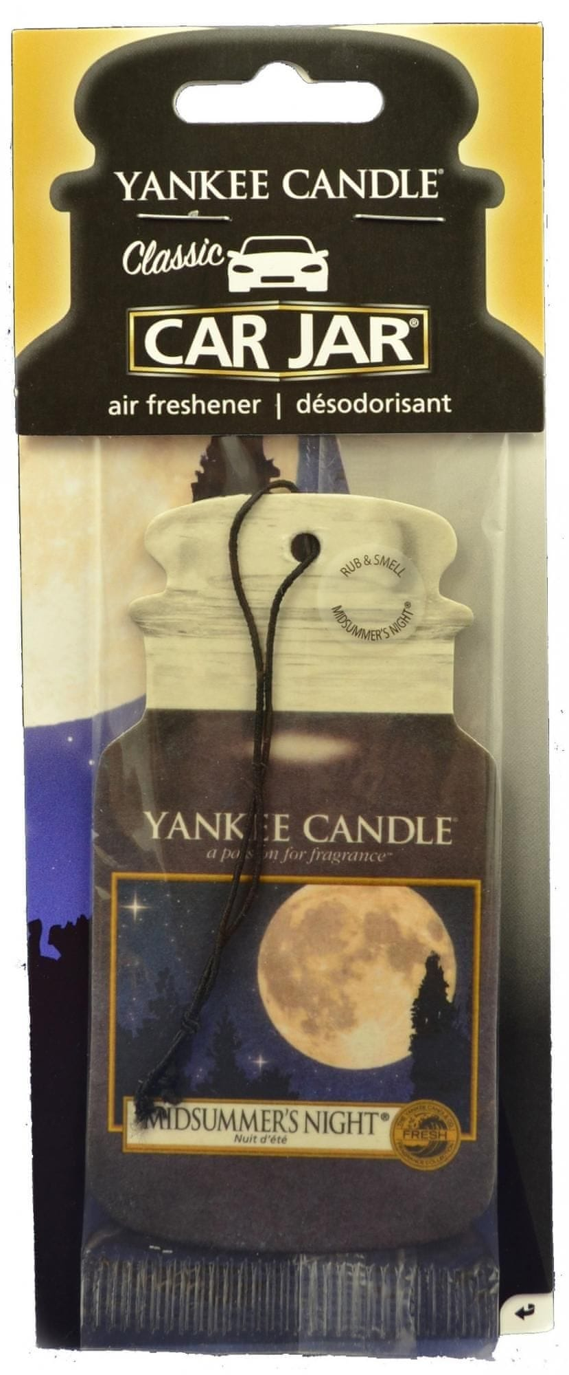 Yankee Candle Car Jar Midsummer's Night papírová visačka do auta 1 ks