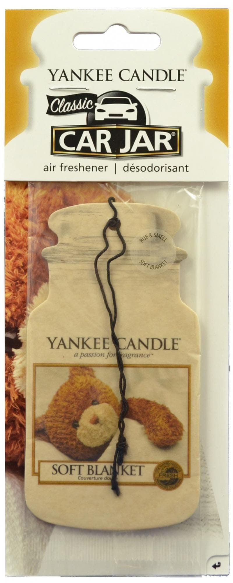Yankee Candle Car Jar Soft Blanket papírová visačka do auta 1 ks