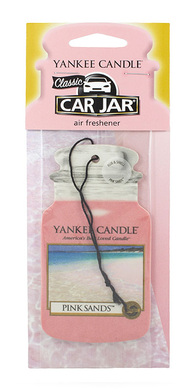 Yankee Candle Car Jar Pink Sands papírová visačka do auta 1 ks