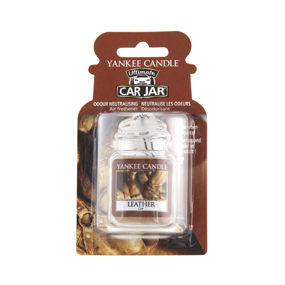 Yankee Candle Car Jar luxusní visačka Leather 1 ks