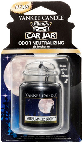 Yankee Candle Car Jar luxusní visačka Midsummer's Night 1 ks