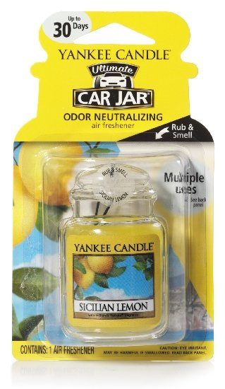 Yankee Candle Car Jar luxusní visačka Sicilian Lemon 1 ks