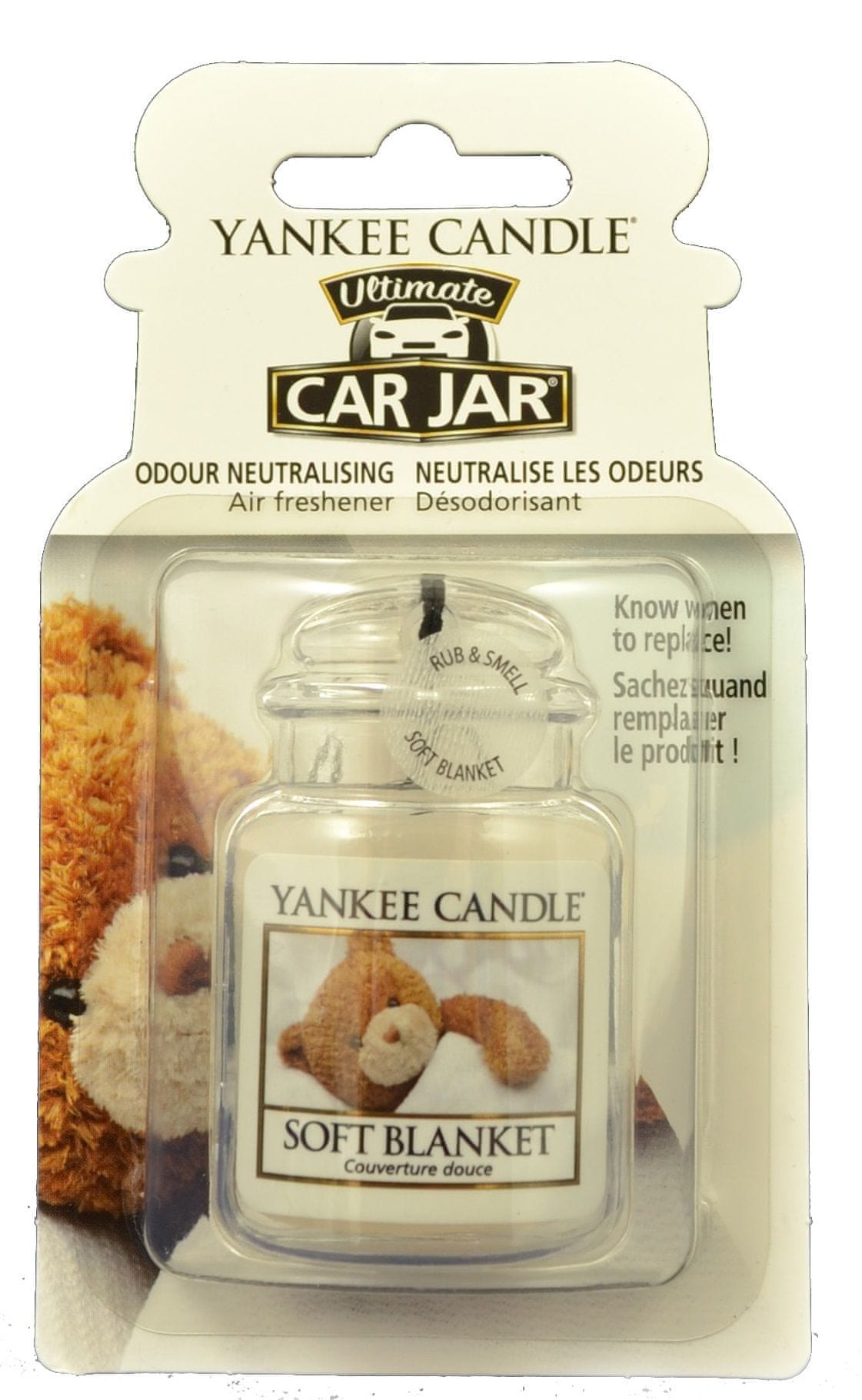 Yankee Candle Car Jar luxusní visačka Soft Blanket 1 ks