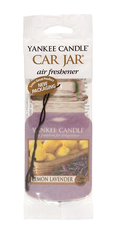 Yankee Candle Car Jar papírová visačka citron levandule 3 ks