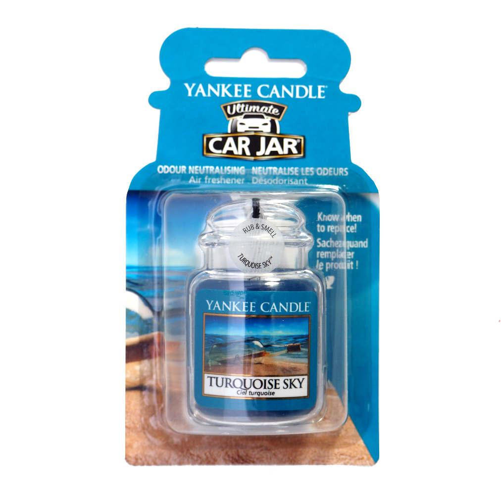 Yankee Candle Car Jar luxusní visačka Turquoise Sky 1 ks