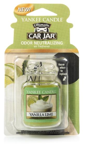 Yankee Candle Car Jar luxusní visačka Vanilla Lime 1 ks
