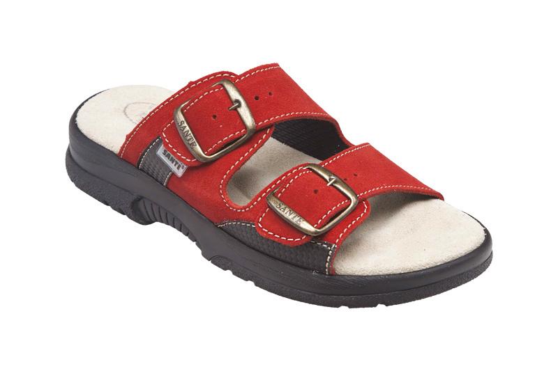 Zdravotní obuv dámská N/517/33/38/CP červená vel. 38