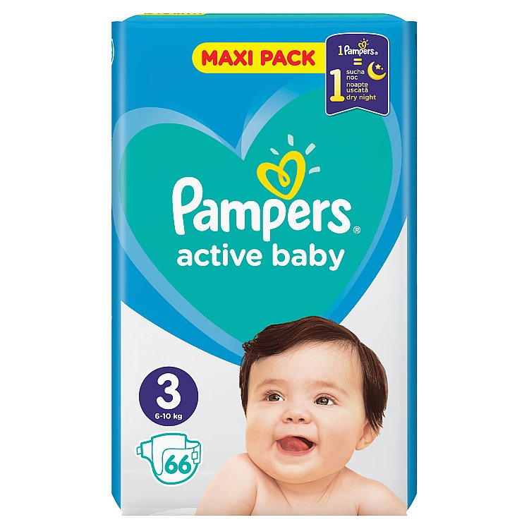 Pampers Active Baby Maxi Pack S3 68 ks