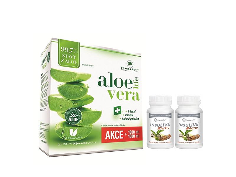 AloeVeraLife 1+1 ZDARMA (1000 ml + 1000 ml) + 2 x InsuLive 55 kapslí
