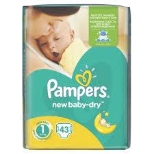 PAMPERS New Baby-Dry 1 (2-5kg) – jednorázové pleny 43 ks