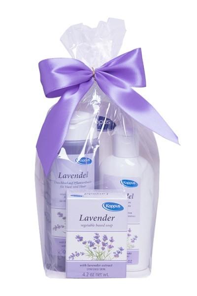 Dárkový balíček Levandule (tělový šampon 250 ml, tělové mléko 200 ml, tuhé mýdlo 125 g)