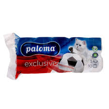 Paloma toaletní papír jemně parfemovaný bílý, limitovaná edice 3vrstvý, 10 ks