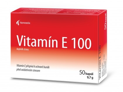 Vitamín E 100 50 kapslí