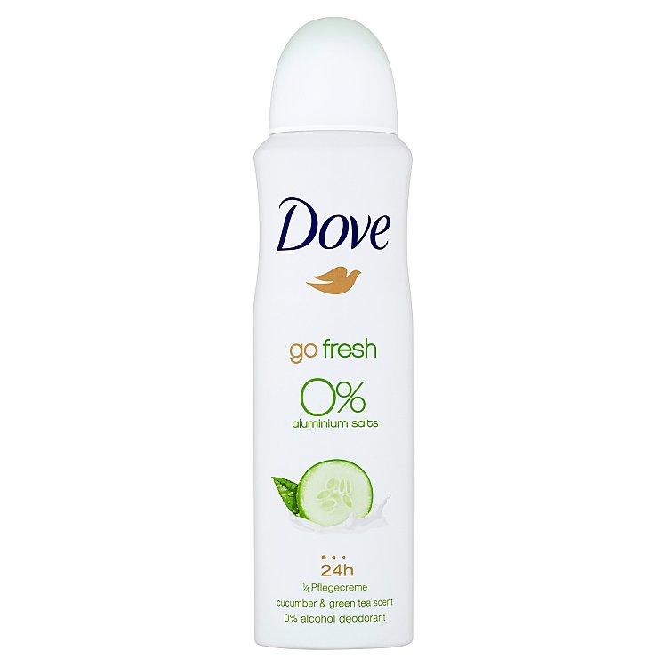 Dove Alu-free Okurka a zelený čaj deodorant sprej 150 ml