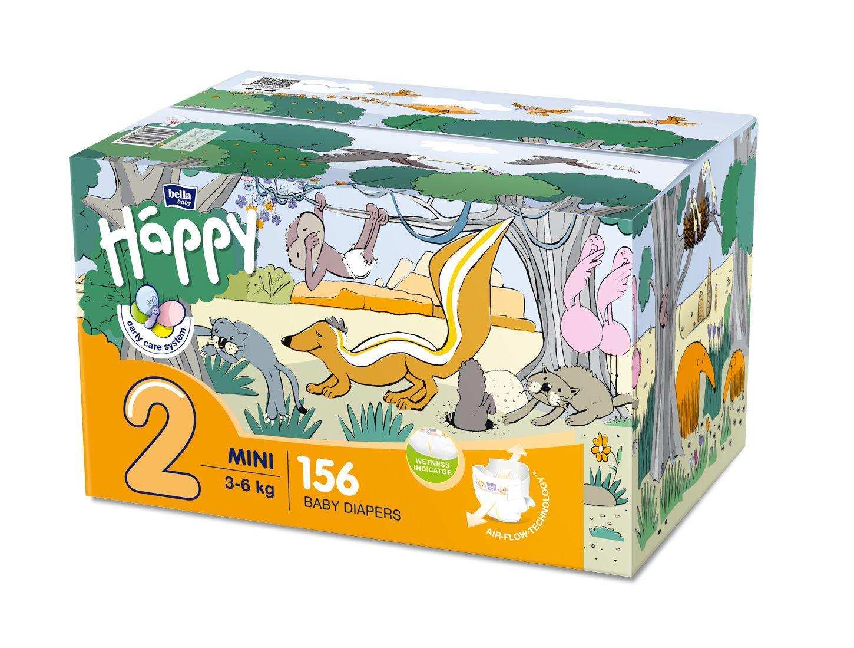 Bella Happy Baby Mini Box pleny 2 x 78 ks