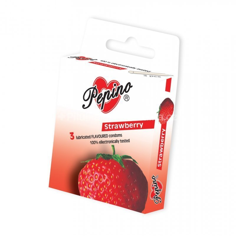 Pepino kondom jahoda 3 ks