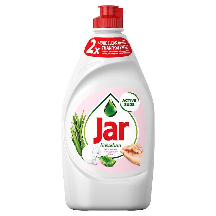 Jar Sensitive Aloe Vera&Pink Jasmin tekutý prostředek na nádobí 450 ml