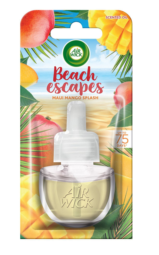 Air Wick tekutá náplň do elektrického přístroje - Maui mangové šplíchnutí 19 ml
