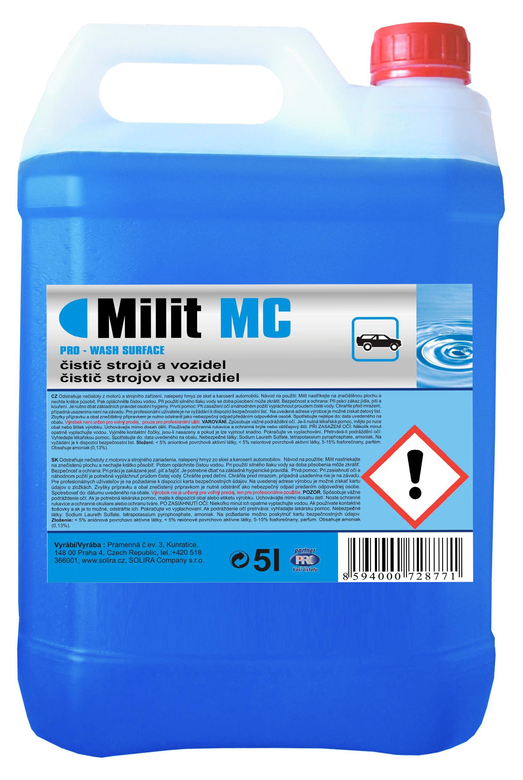 MILIT MC čistič strojů a vozidel 5 l