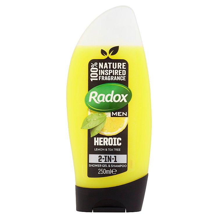 Radox Feel Heroic 2v1 pánský sprchový gel a šampon 250 ml