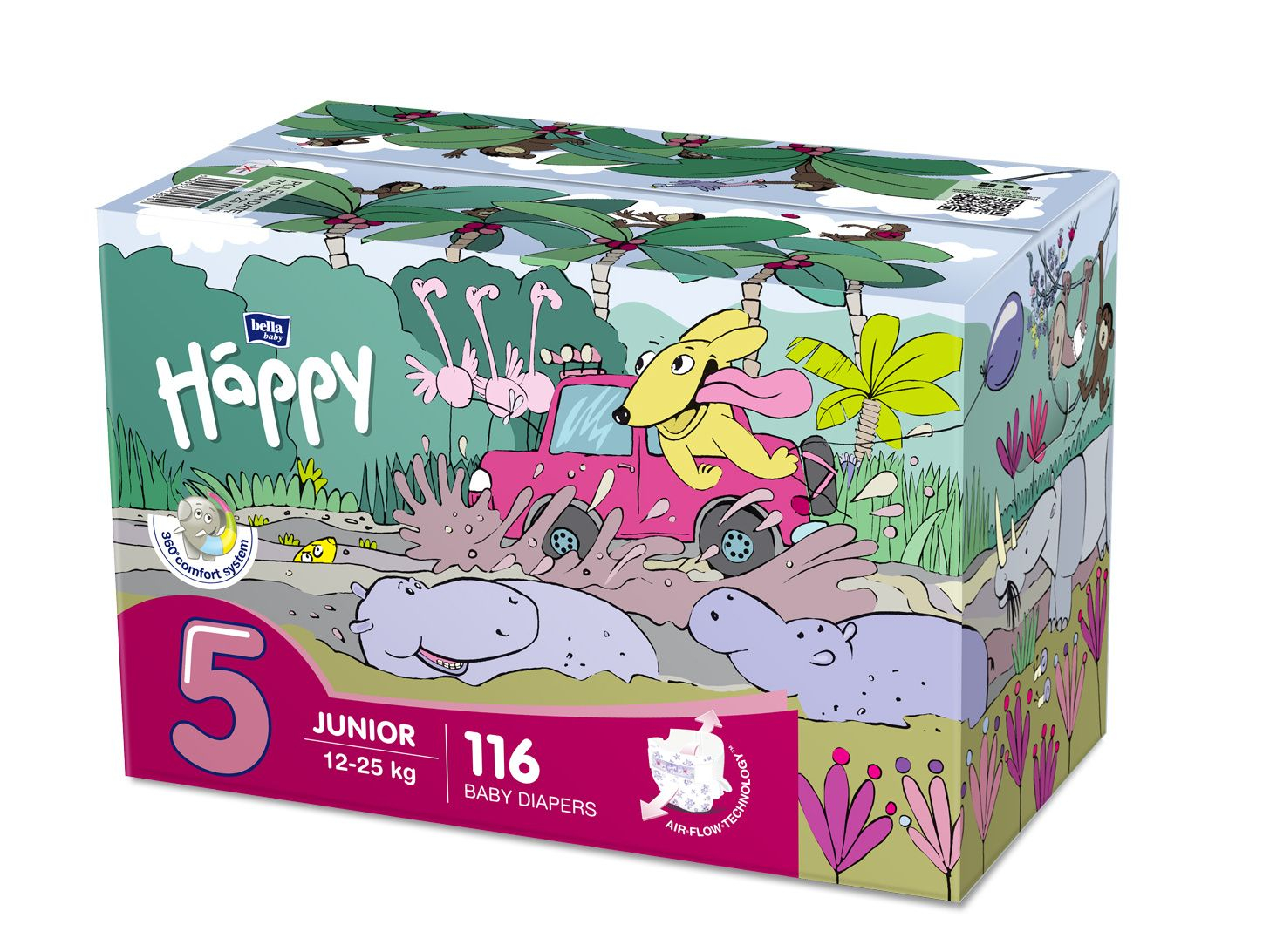 Bella Happy Baby Junior Box plenky, 12–25 kg 2x58 ks
