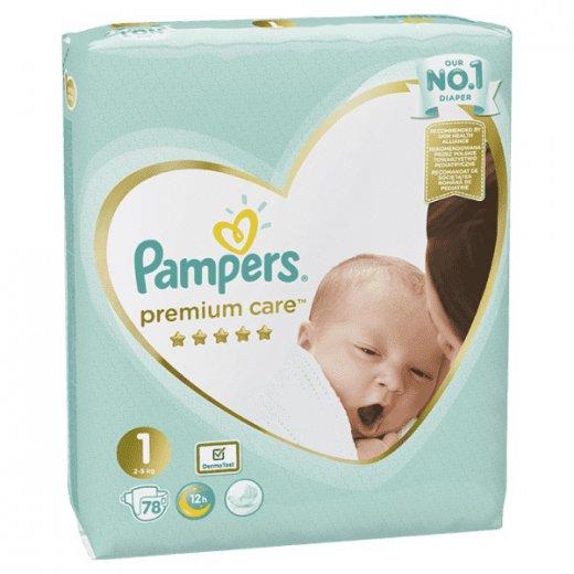 Fotografie Pampers Premium Value Pack S1 78 ks