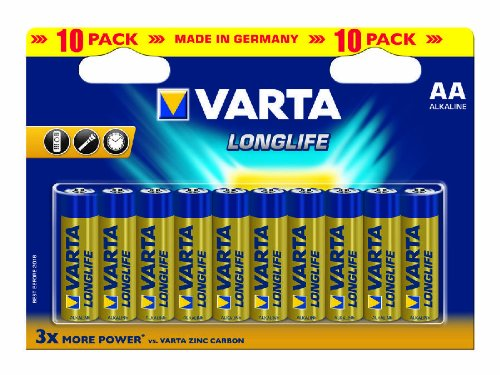 VARTA tužkové baterie AL2 Longlife 4106/10 AA 10 ks