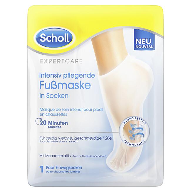 Scholl Vyživující maska na nohy s makadamovým olejem PediMask Expert Care (Foot Mask) 1 pár