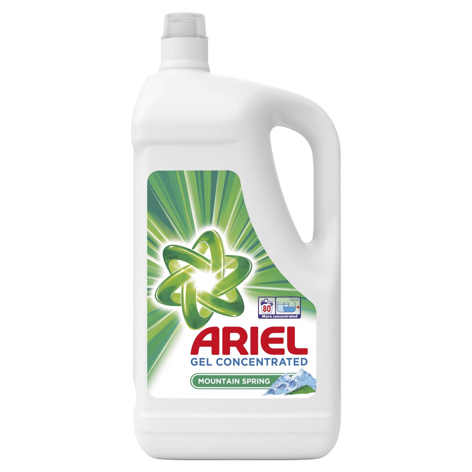 Ariel prací gel Mountain Spring, 80 praní 4,4 l