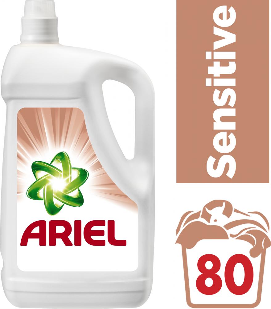 Ariel prací gel Sensitive, 80 praní 4,4 l
