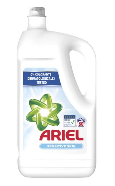 Ariel Sensitive prací gel , 80 praní 4,4 l