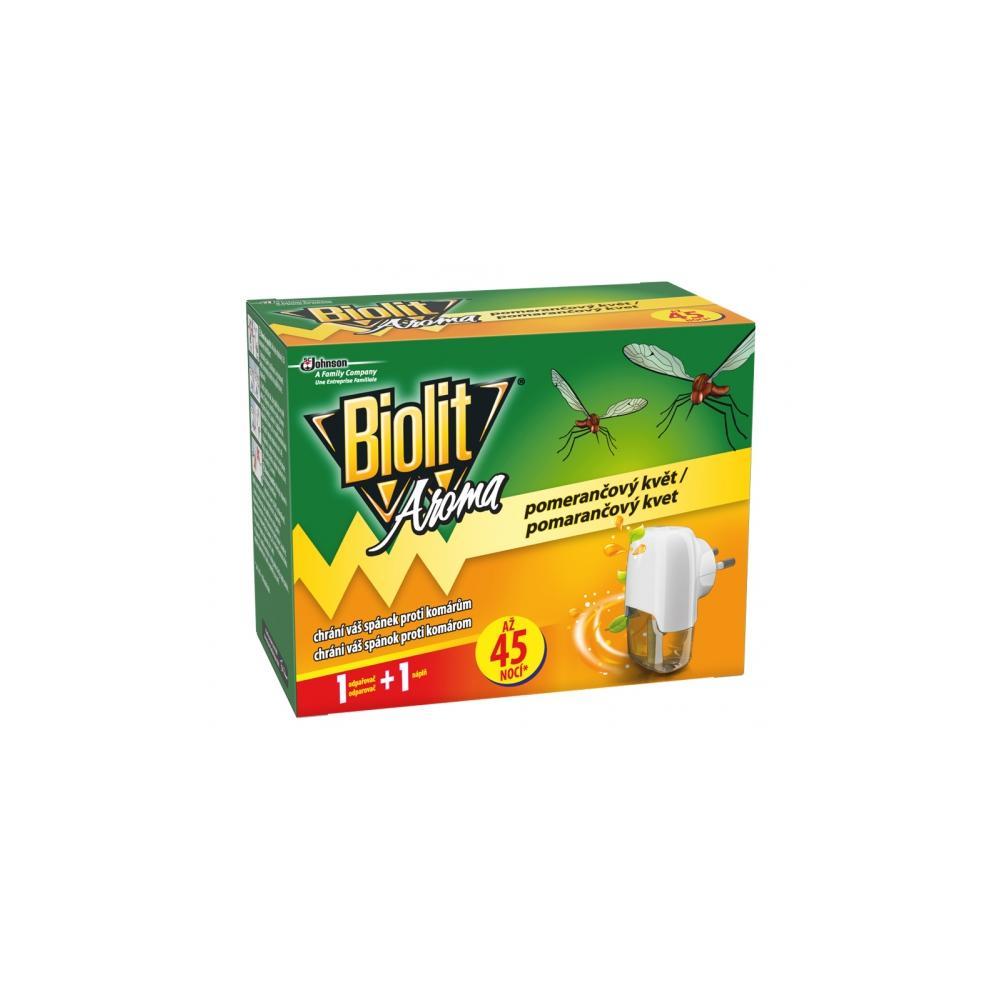 Biolit elektrický odpařovač proti komárům pomeranč, 45 nocí 27 ml