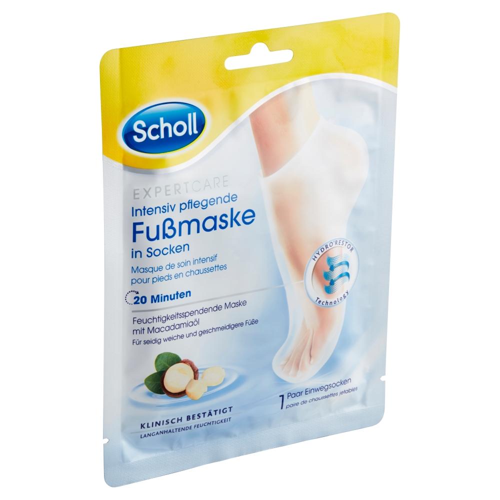 Scholl Expert Care vyživující maska na nohy s makadamovým olejem 1 pár