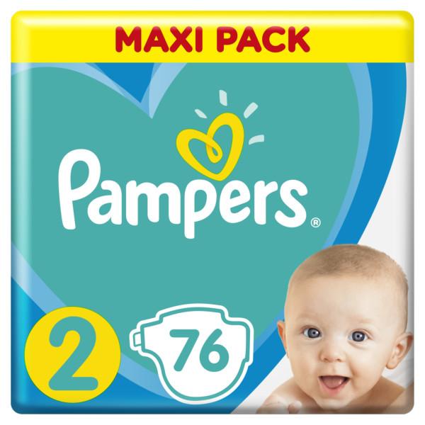 Pampers New Baby-Dry pleny 2 Mini, velikost 4-8 kg 76 ks