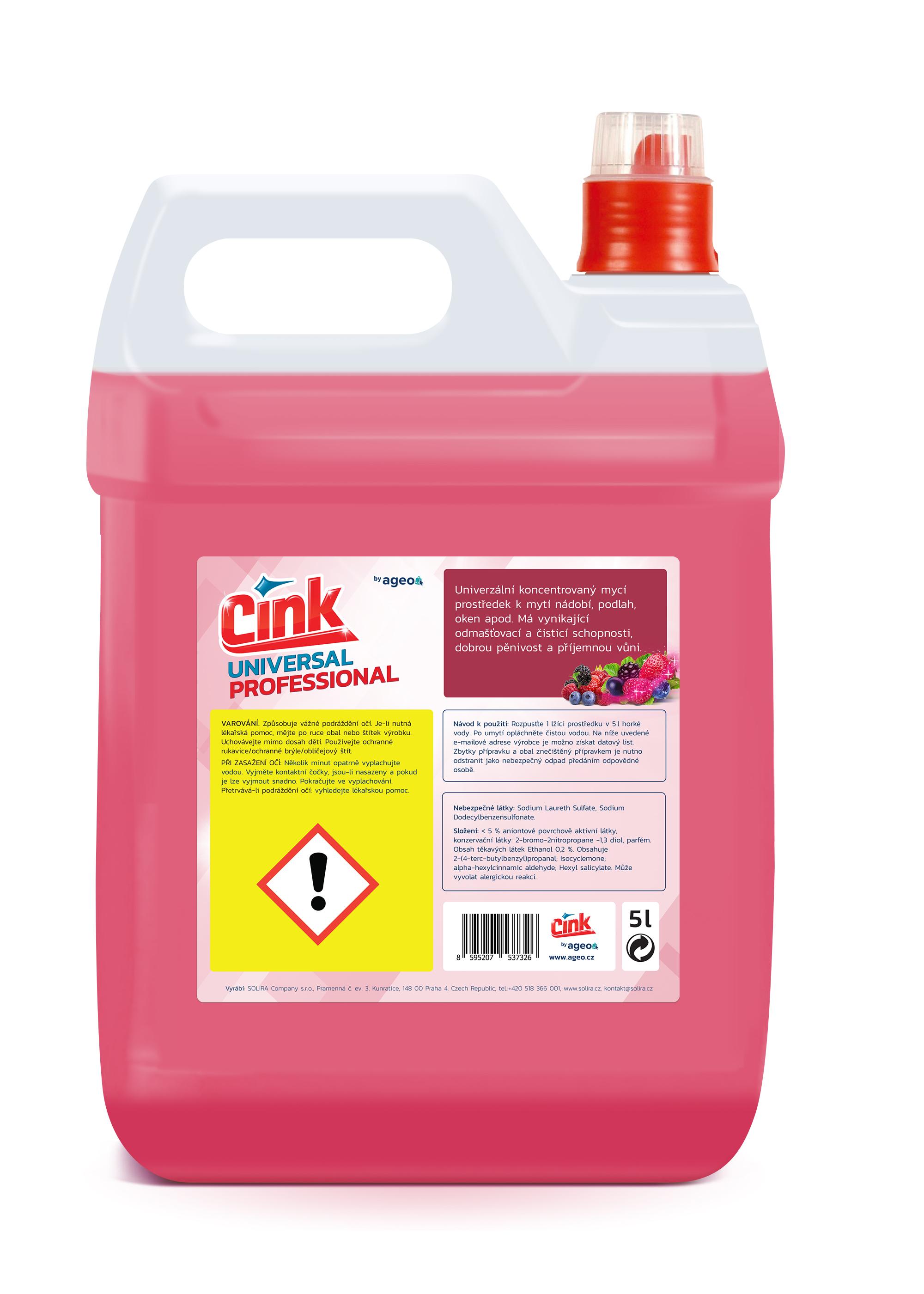 Cink Universal univerzální čistič na všechny povrchy Professional 5 l